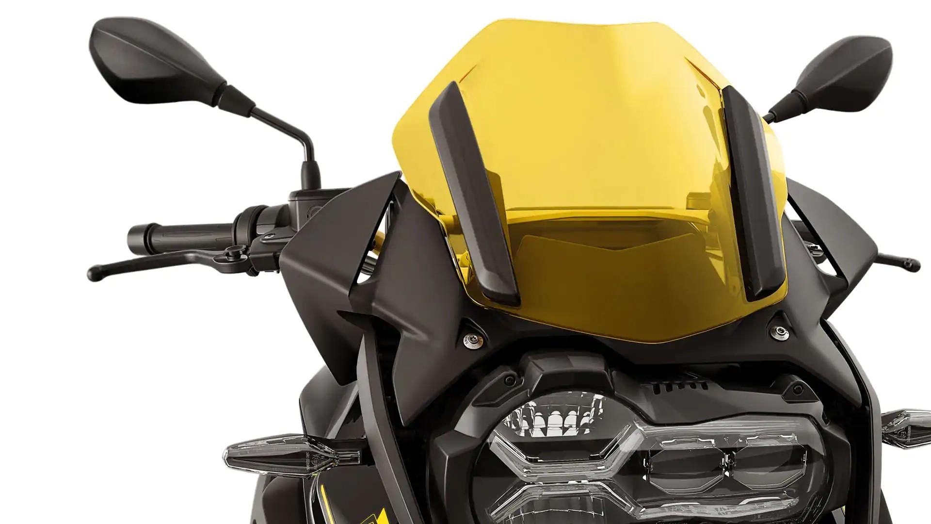 Спортивний вітрозахисний щиток жовтого кольору